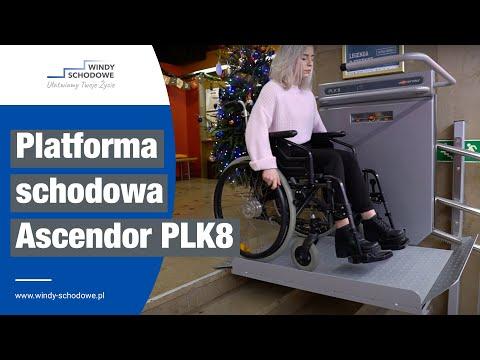 Platforma schodowa dla osób niepełnosprawnych | Ascendor PLK8 na torze krzywoliniowym