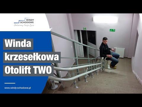 Krzesełko schodowe krzywoliniowe Otolift model TWO