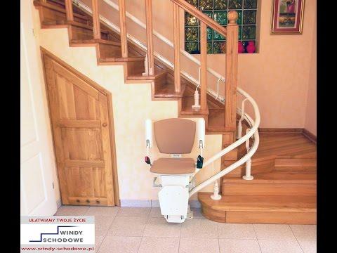 Krzesełko schodowe krzywoliniowe model Otolift TWO