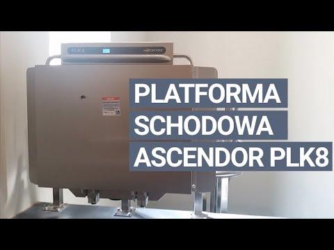 Platforma schodowa dla osób niepełnosprawnych | model Ascendor PLK8 na szynie krzywoliniowej