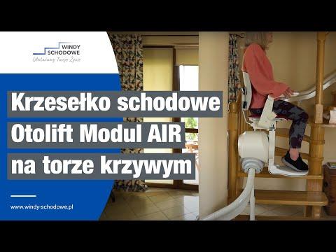 Jak działa krzesełko schodowe? Winda schodowe Otolift Modul AIR na torze krzywoliniowym