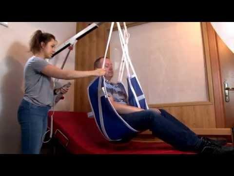 Ścienny podnośnik transportowy dla osób niepełnosprawnych Levicare Q140
